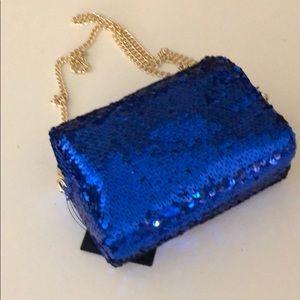 Handbags - 💎🆕JUST IN! NWT Cobalt Blue sequin cross body bag